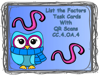 Winter Task Cards Name the Factors with QR Codes