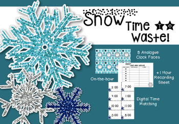 Winter Telling the Time on the hour- Snow Time to Waste! {