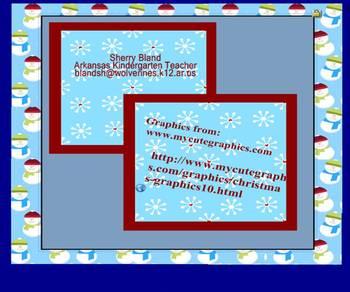 Smartboard Winter Wonderland Ten Frames for Kindergarten