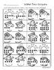 Winter Tens Frame Comparisons - Number Sense - Greatest /