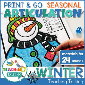 Winter Articulation Print & Go