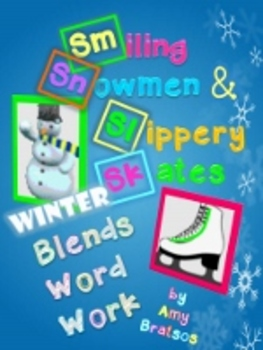 Winter Theme Consonant Blend & Digraph Word Work Literacy