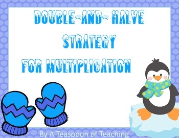 Winter Theme Double-and-Halves Strategy for Mulitplication