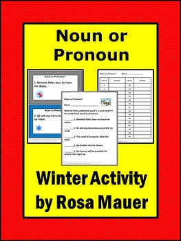 Noun or Pronoun Winter Theme