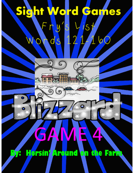 Winter Theme Sight Words Game 4 (Fry List)