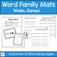 Winter Theme Word Family Mats-Word Work Center
