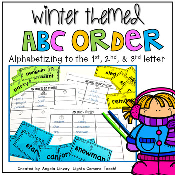 Winter Themed ABC Order to 1st, 2nd, 3rd Letter