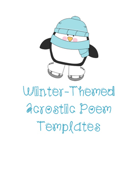 Winter-Themed Acrostic Poem Templates