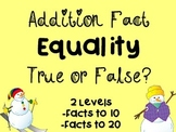 Winter Themed Addition Fact Equality