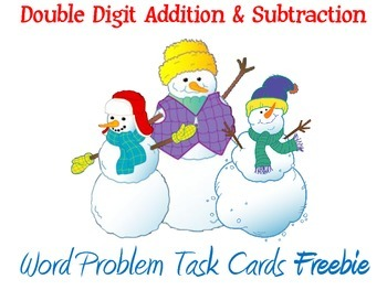 Winter Themed Addition and Subtraction Word Problems Task