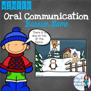 Winter Themed Barrier Game for Oral Communication