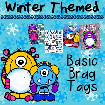 Winter Themed Basic Brag Tags