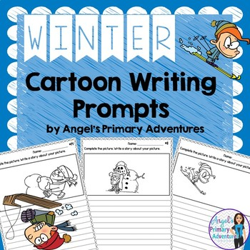 Winter Themed Cartoon Writing Prompts