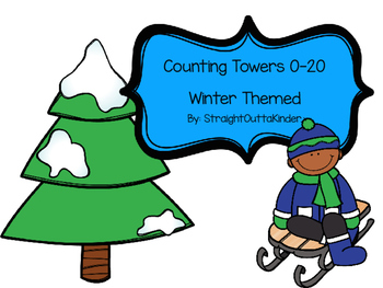 Winter Themed Counting Towers 0-20