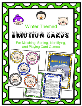 Winter Themed Emotion Card Activities and Games