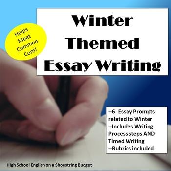 Winter Themed Essay Writing, w Rubrics & Printables