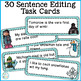 Winter Editing Sentences: Second Grade, Capitalization, Pu