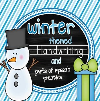 Winter Themed Handwriting & Parts of Speech Practice