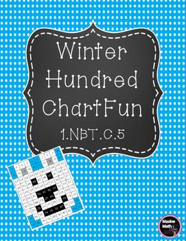 Winter Themed Hundred Chart Fun for Ten More/Less 1.NBT.C.5
