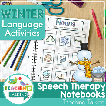 Winter Themed Interactive Language Notebooks