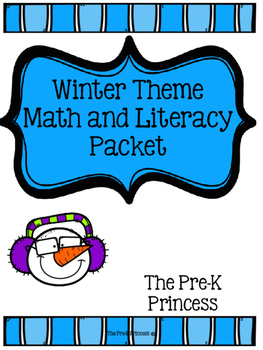 Winter Themed Math and Literacy Packet
