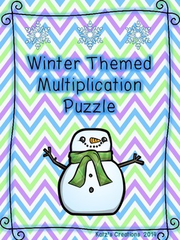 Winter Themed Multiplication Puzzle (2-digit by 2-digit)
