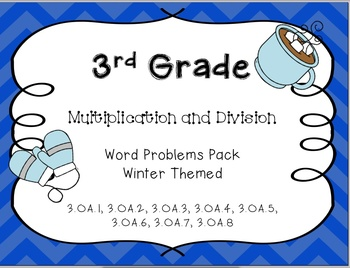 Winter Themed Multiplication and Division Word Problem Pack