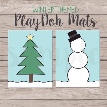 Winter Themed Play-Doh Mats