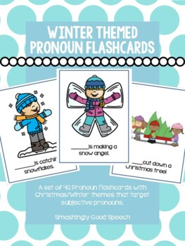 Winter Themed Pronoun Activity