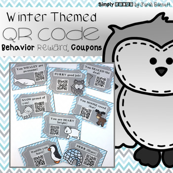 Behavior QR Code Coupons {Winter Themed}