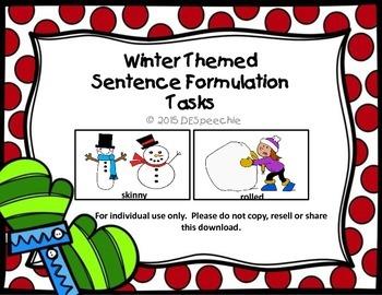 Winter Themed Sentence Formulation Tasks