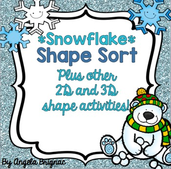 Winter Math Shape Activities {Flat and Solid Shape Sorts,