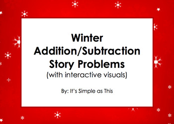 Winter-Themed Story Problems with Interactive Visuals