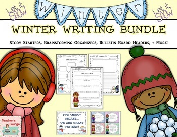 Winter Themed Writing Bundle : Prompts, Graphic Organizers