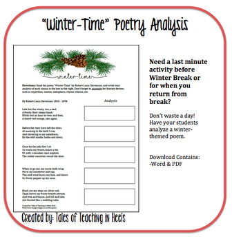 Winter-Time Poetry Analysis