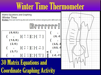 Winter Time Thermometer - 30 Matrix Equations and Coordina