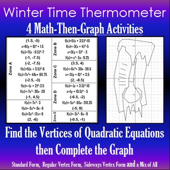 Winter Time Thermometer - Finding Vertices - 4 Math-Then-G
