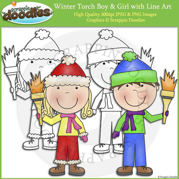 Winter Torch Boy & Girl