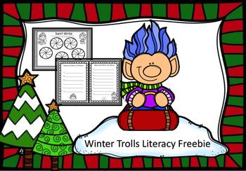 Winter Trolls Literacy Center Freebie
