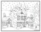 Winter Christmas Holiday Visual Arts Coloring Pages Highly