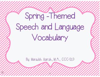 Spring Vocabulary: An Interactive book