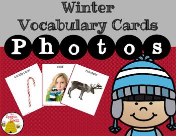 Winter Vocabulary Cards:  Photo
