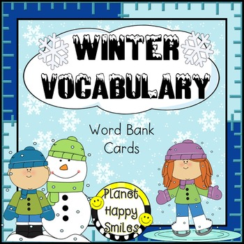 Winter Vocabulary Cards ~ Word Bank