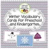 Winter Vocabulary Cards for Preschool and Kindergarten