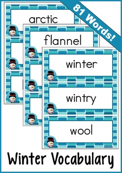 Winter Vocabulary (Word Wall) 81 Words!