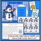 Winter Literacy Game - Vowel Digraph Words: Snowman SWIPE