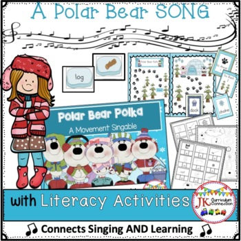 Winter Movement Song & Literacy Center Vowel Work - Polar