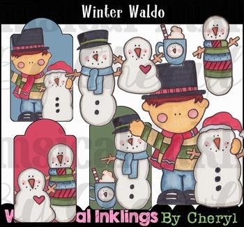 Winter Waldo-Snowman Clipart Collection