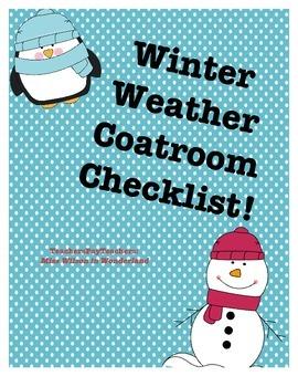 Winter Weather - Coatroom Checklist