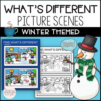 No Prep What's Different? Winter Themed for Speech and Language
